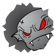 Face danger monster hole