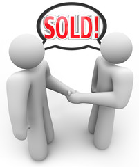 Sold Buyer Seller Salesperson Customer Handshake
