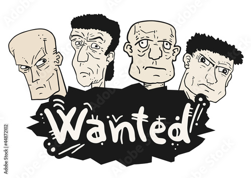 Wanted cartoon