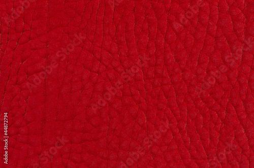 Staande foto Leder Red leather