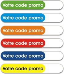 boutons votre code promo