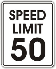 panneau speed limit 50