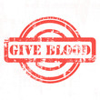 Give blood red stamp