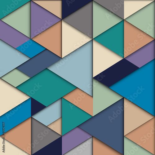 Origami background in retro colors © arturaliev