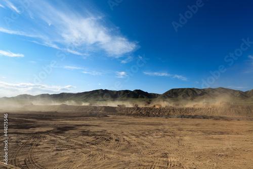 Leinwandbild Motiv construction site and dust