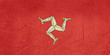 Grunge Isle of Man Flag