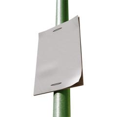 Street Pole Blank Newspaper Headline Page