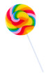 Colorful spiral lollipop lolly pop