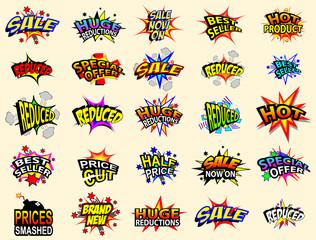 Cartoon Sale Icons