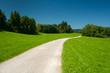 Weg durch Wiesen in der Nähe des Hopfensees