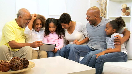 African American Family Generations Wireless Tablet