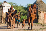 Himba people perform traditional dance