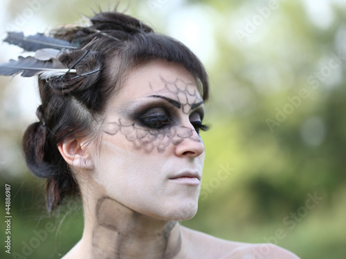 Poster Makeup donna serpente