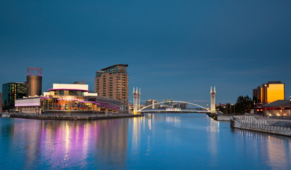 Footbridge across Salford Quays