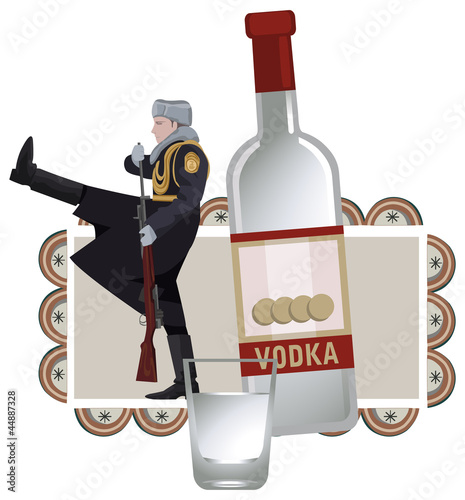 Russian Soldier and Vodka