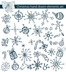 Christmas hand drawn elements collection