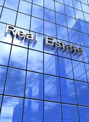 Fassaden Konzept Blau - Real Estate