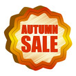 autumn sale starlike label