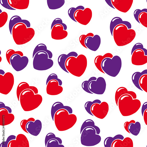 hearts background isolated on white