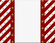 Red and White celebration frame with stars for your message or i