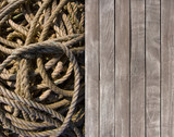 Deck and coiled rope