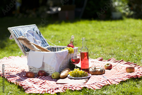 Keuken foto achterwand Picknick Perfect food in the garden. picnic