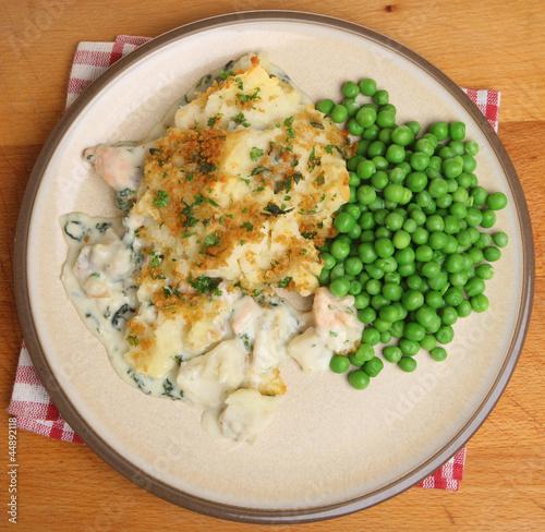 Fish Pie with Peas