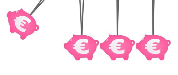 Sparschwein Pendel Euro