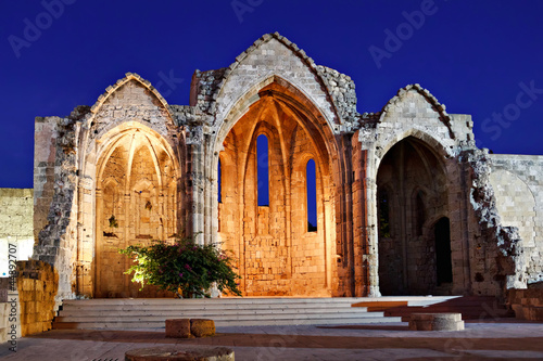 Medieval church ruins, Rhodes, Greece