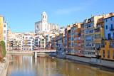 Vista de la ciudad de Girona. Catalunya poster