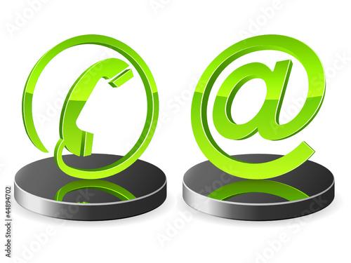 Support, Kontakt - 3D Zeichen