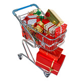Christmas shopping trolley