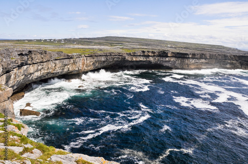 Cliffs near  Dun Aengus, Inishmore, Aran islands in Ireland