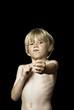 Boy doing martial art