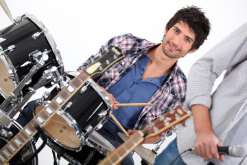 Drummer in a band