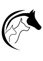 Pferd  Hunde Katze Logo