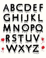 Dripping blood alphabet
