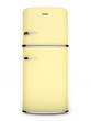 Retro yellow refrigerator