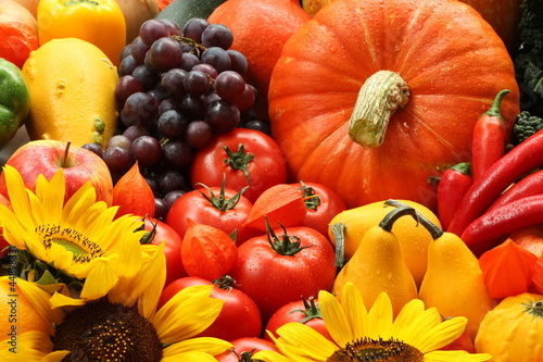 Veggies and flowers