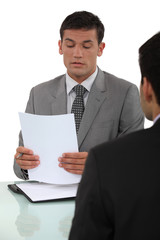 Man in job interview