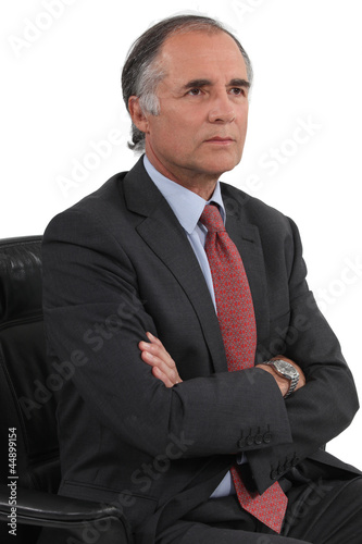 serious businessman posing
