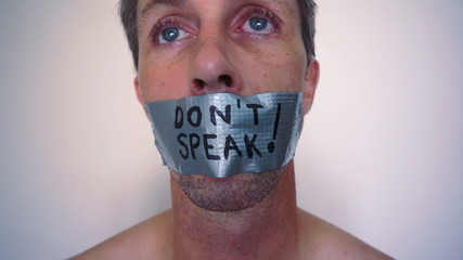 Speak No Evil Duct Tape