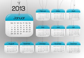 kalender hängend 2013 blau