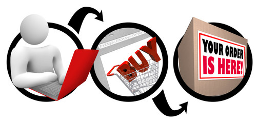 Easy Shopping Online e-Commerce Fast Delivery Box