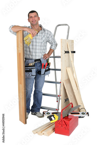 carpenter and his equipment