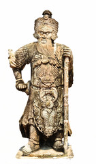 Ancient Chinese warrior sculpture