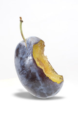 Fruit - plum with bite