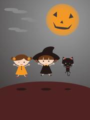 Halloween Kids Cat
