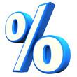 Blue Percent Symbol