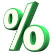 Green Percent Symbol
